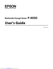 Epson P6000 - Multimedia Photo Viewer User Manual
