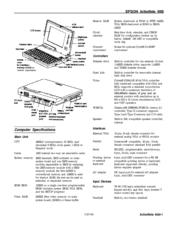 Epson ActionNote 4000 Product Information
