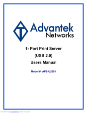 Advantek APS-U2001 Drivers Update