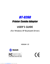 Epson BT-0260 User Manual