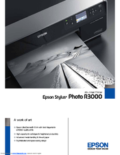 Epson Stylus Photo R3000 Series Specification