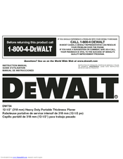 dewalt dw734 manuals rh manualslib com dewalt owners manuals pdf dewalt owners manual dw735