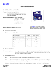 Epson Stylus Color 640 Product Information Sheet