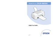 Epson Stylus Color 480SXU Daily Use Manual