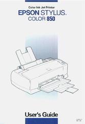 Epson Stylus Color 850 User Manual