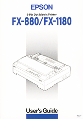 EPSON FX-1180+ IMPACT PRINTER DRIVERS DOWNLOAD