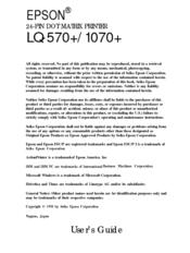 Epson lq-570 printer part 1005432 paper sheet guide frame assembly.