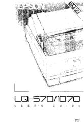 Service manual epson lq-570, lq-1070 | printer (computing) | typefaces.