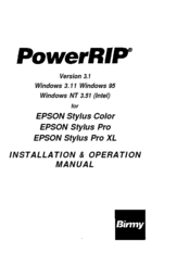 Epson Stylus Photo - Ink Jet Printer Installation And Operation Manual