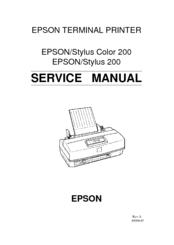 epson stylus color 200 epson stylus 200 terminal printer service repair manual