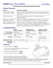 Epson 785EPX - Stylus Photo Color Inkjet Printer Specification Sheet