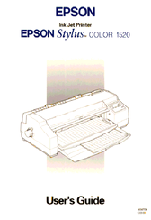 Epson 1520 - Stylus Color Inkjet Printer User Manual