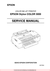 Epson Stylus COLOR 3000 Service Manual