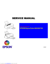 Epson Stylus Color 640 Service Manual
