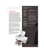 Epson Stylus Color 900 Specifications