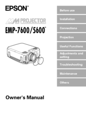 epson emp 7600 manuals rh manualslib com Projector Epson 7600 service manual for epson stylus pro 7600