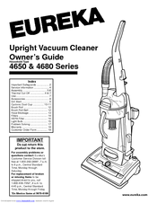 eureka 4680 series manuals rh manualslib com Eureka Bagless Vacuum Cleaners Eureka Vacuum Parts List