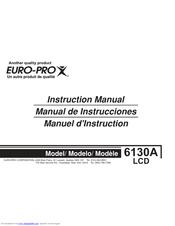 euro pro 6130a2 manuals rh manualslib com Euro-Pro Toaster Oven Manual Euro Pro X Steam Cleaner