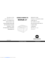 Konica Minolta bizhub 20P Safety Information Manual