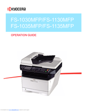 KYOCERA FS-1135MFP/1035MFP: Duplex Scan to USB Flash Drive - YouTube