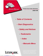 lexmark forms printer 2400 series 24xx 100 service repair manual