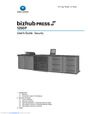Konica Minolta bizhub PRESS 1250/1250P User Manual