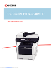 Kyocera ECOSYS FS-3540MFP MFP KPDL Driver for Windows Mac
