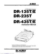 alinco dr 235t manuals rh manualslib com Instruction Manual User Guide Template