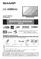 sharp lc46sb54u lc 46 lcd tv operation manual pdf download rh manualslib com Sharp Compet QS-2760H Sharp Compet QS-2760H