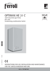 Ferroli optimax he 38 c manuals ferroli optimax he 38 c instructions for installation use and maintenance manual asfbconference2016 Choice Image