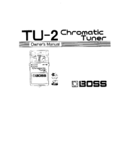 boss tu 2 owner s manual pdf download rh manualslib com boss tu 3 manuel boss tu-3 manual pdf