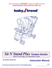 baby trend sit n stand plus manuals rh manualslib com baby trend instruction manual baby trend playpen manual