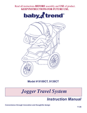 baby trend jogger travel system 9109ct instruction manual pdf download rh manualslib com baby trend expedition manual baby trend playpen manual