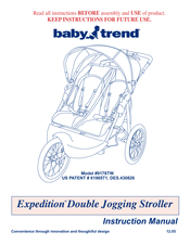 baby trend expedition 9178tw manuals rh manualslib com baby trend stroller manual baby trend velocity manual