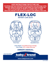 BABY TREND FLEX LOC OWNERS MANUAL Pdf Download