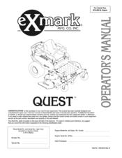 exmark quest qst22be482 manuals rh manualslib com exmark quest parts manual exmark quest 42 parts manual