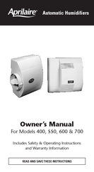 aprilaire model 760 installation manual