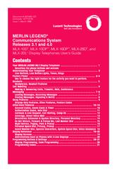 Lucent technologies merlin legend mlx-10dp manuals.