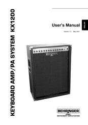 behringer kx1200 manuals rh manualslib com behringer v-amp 3 user manual behringer mini amp manual