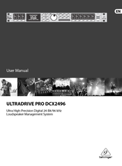 behringer ultradrive pro dcx2496 user manual pdf download rh manualslib com Behringer Mixer Behringer X32 Mixer