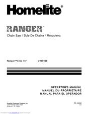 homelite 240 chainsaw manual pdf