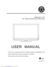 awa mhdv4211 o3 manuals rh manualslib com Instruction Manual Book Owner's Manual