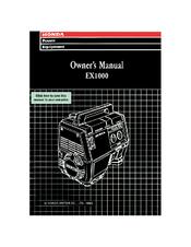 Honda ex1000 generator shop manual (#268) | ebay.