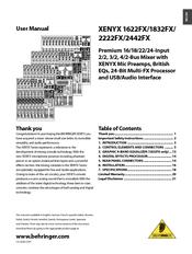 Behringer xenyx 2442fx manuals.