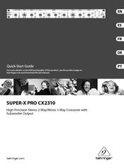 behringer super x pro cx2310 manuals rh manualslib com behringer cx2310 notice behringer cx2310 notice