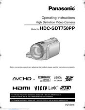 Panasonic HDC-SDT750 Workshop Manual