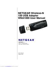 Netgear WNA1000 - Wireless-N 150 USB Adapter Manuals