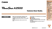 Canon PowerShot A2500 User Manual