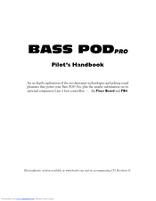 Line 6 Bass POD Pro Pilot's Handbook Manual