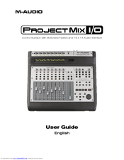 m audio projectmix i o manuals rh manualslib com M-Audio Project Mix Manual m-audio projectmix i/o manual